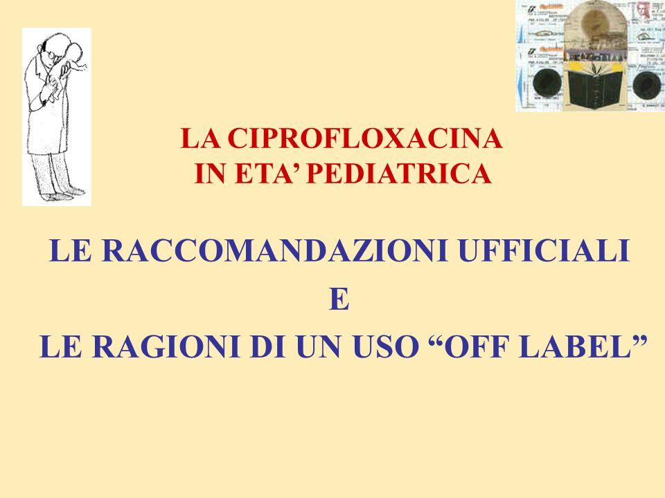 I° SCELTA (in alternativa terapia parenterale) FIBROSI CISTICA Commento : In riacutizzazioni infezioni da P.