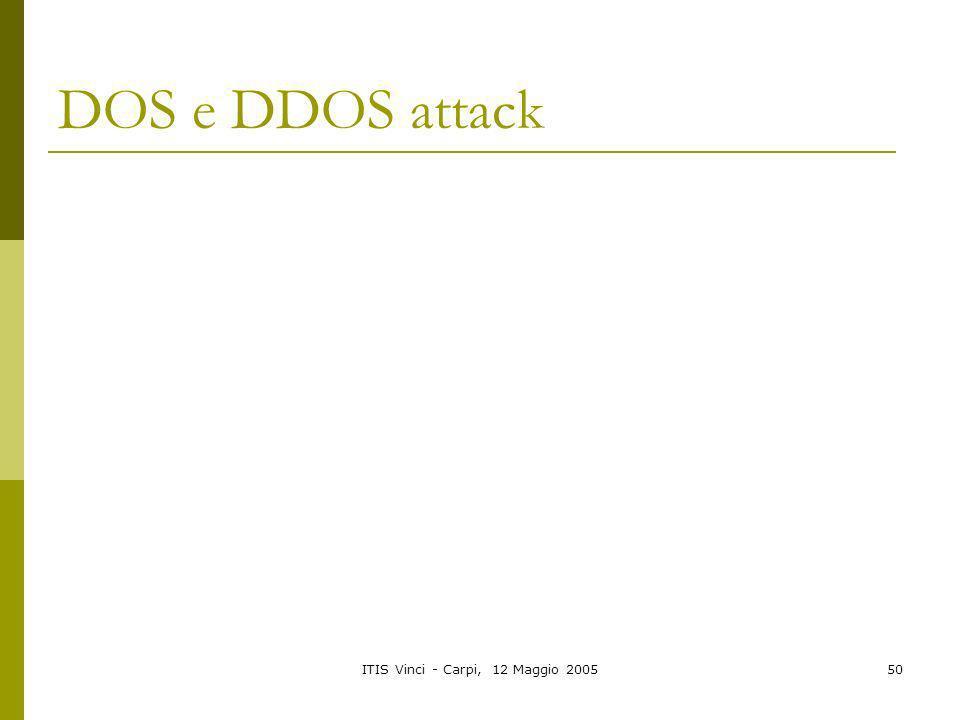 ITIS Vinci - Carpi, 12 Maggio 200550 DOS e DDOS attack