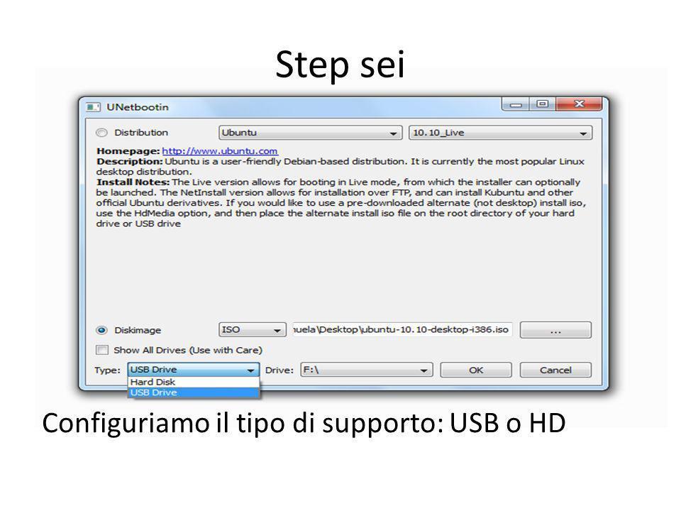 Step sette Scegliamo la letteradel drive