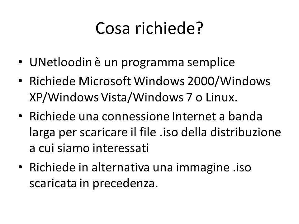 Cosa richiede? UNetloodin è un programma semplice Richiede Microsoft Windows 2000/Windows XP/Windows Vista/Windows 7 o Linux. Richiede una connessione