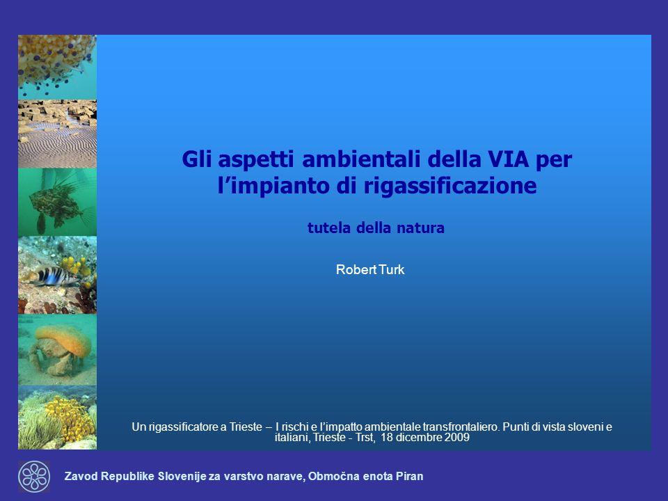 Zavod Republike Slovenije za varstvo narave, Območna enota Piran Gli aspetti ambientali della VIA per limpianto di rigassificazione Un rigassificatore