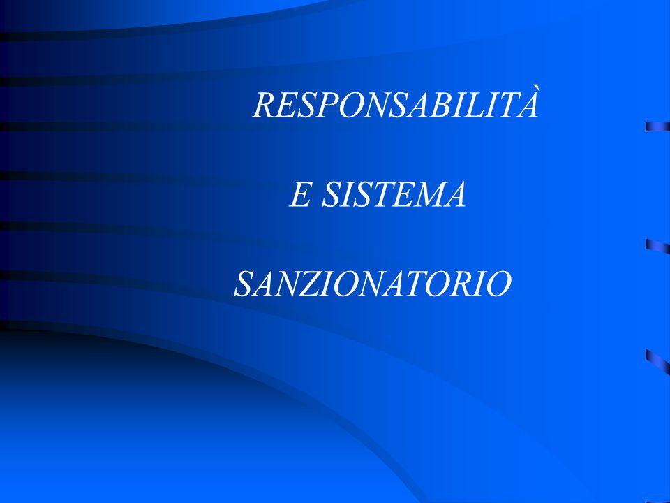 RESPONSABILITÀ E SISTEMA SANZIONATORIO