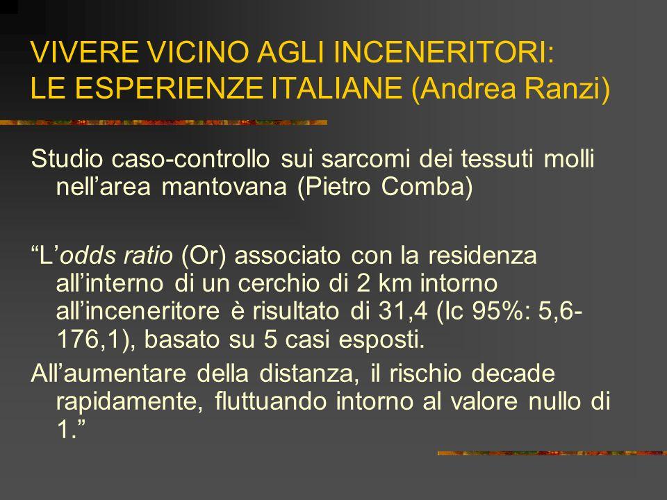 VIVERE VICINO AGLI INCENERITORI: LE ESPERIENZE ITALIANE (Andrea Ranzi) Studio caso-controllo sui sarcomi dei tessuti molli nellarea mantovana (Pietro