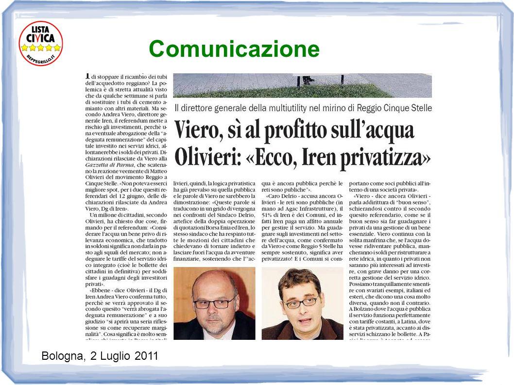 Bologna, 2 Luglio 2011 Comunicazione