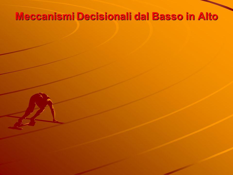 Meccanismi Decisionali dal Basso in Alto