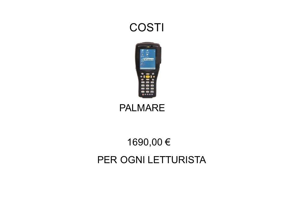 COSTI PALMARE 1690,00 PER OGNI LETTURISTA