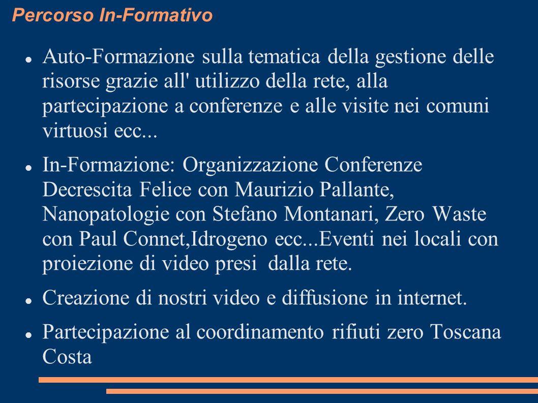 Percorso In-Formativo Auto-Formazione sulla tematica della gestione delle risorse grazie all utilizzo della rete, alla partecipazione a conferenze e alle visite nei comuni virtuosi ecc...