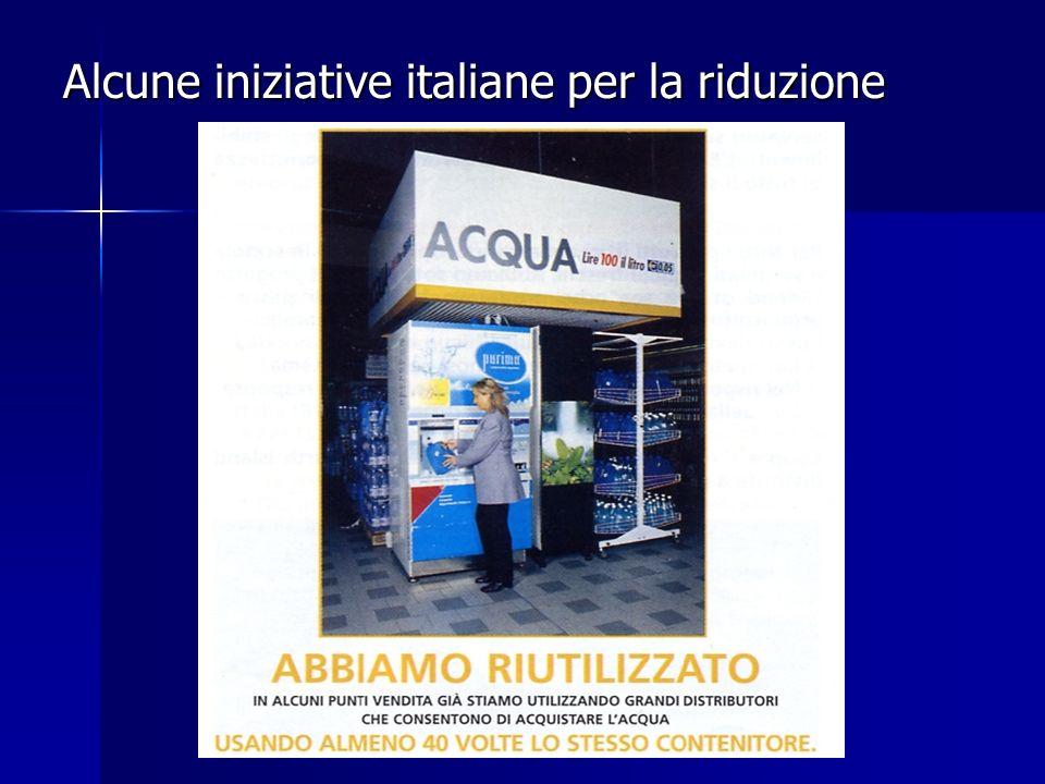 Alcune iniziative italiane per la riduzione