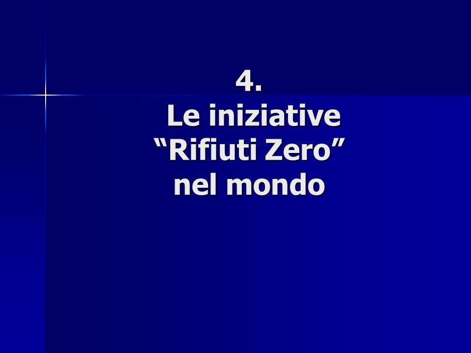 4. Le iniziative Rifiuti Zero nel mondo