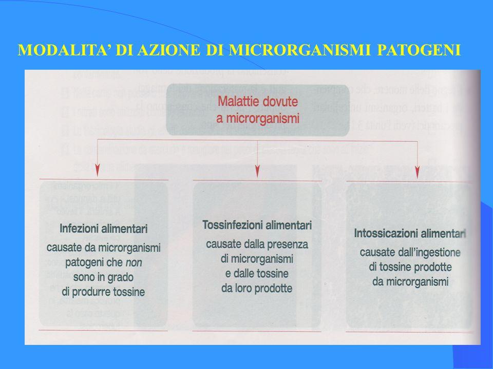 MODALITA DI AZIONE DI MICRORGANISMI PATOGENI