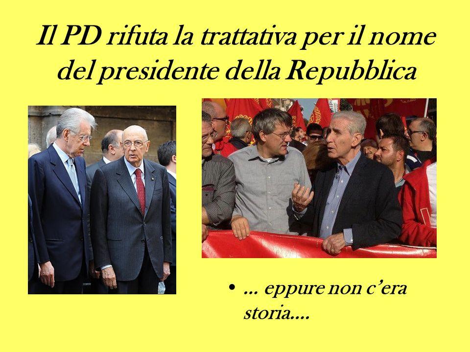 Il PD rifuta la trattativa per il nome del presidente della Repubblica … eppure non cera storia….