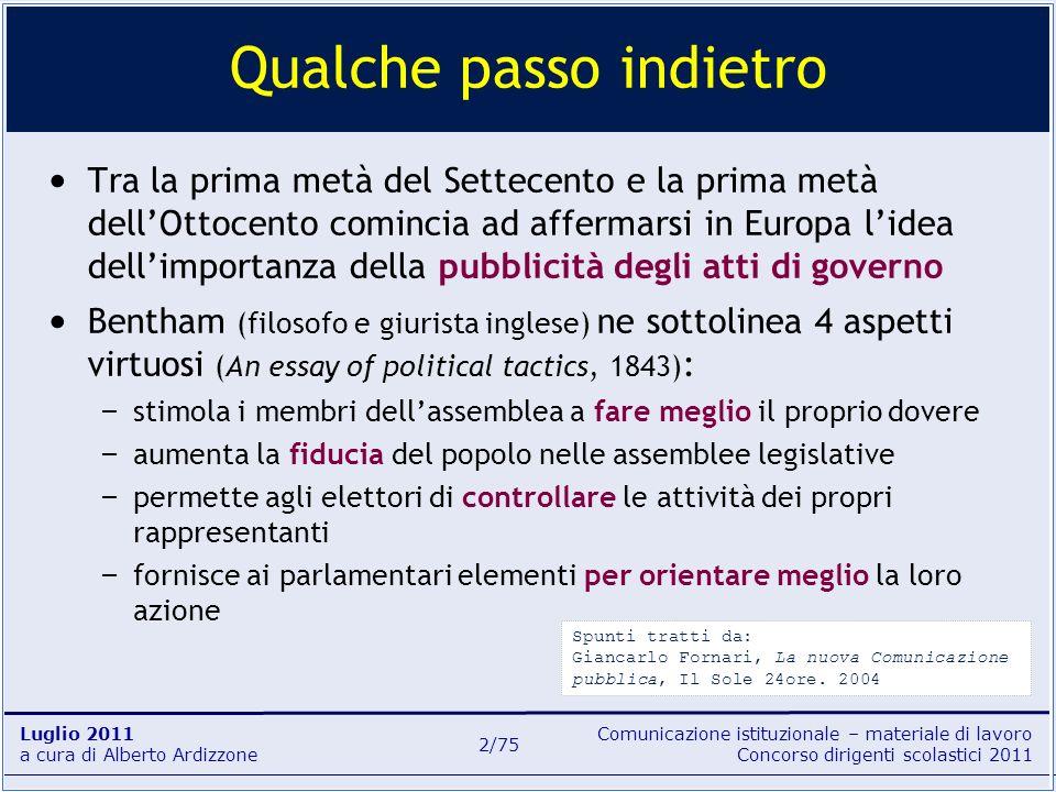 Comunicazione istituzionale – materiale di lavoro Concorso dirigenti scolastici 2011 Luglio 2011 a cura di Alberto Ardizzone 33/75 dal D.