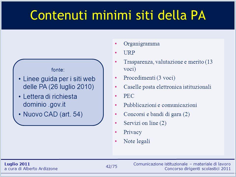 Comunicazione istituzionale – materiale di lavoro Concorso dirigenti scolastici 2011 Luglio 2011 a cura di Alberto Ardizzone 42/75 Organigramma URP Tr