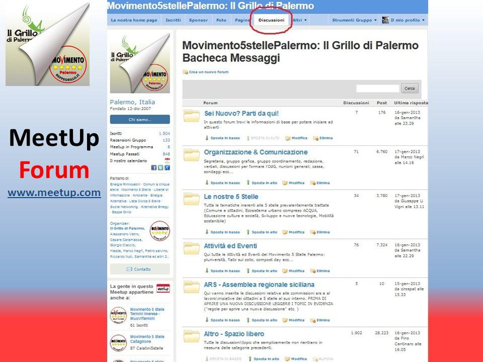MeetUp Forum www.meetup.com