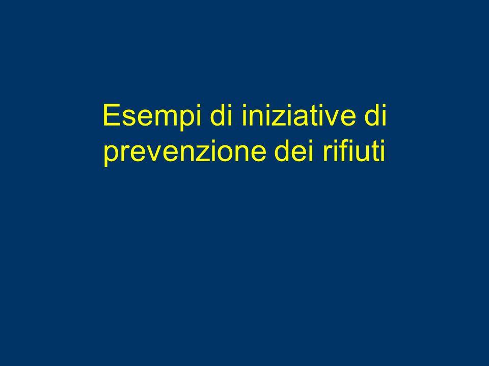 Esempi di iniziative di prevenzione dei rifiuti