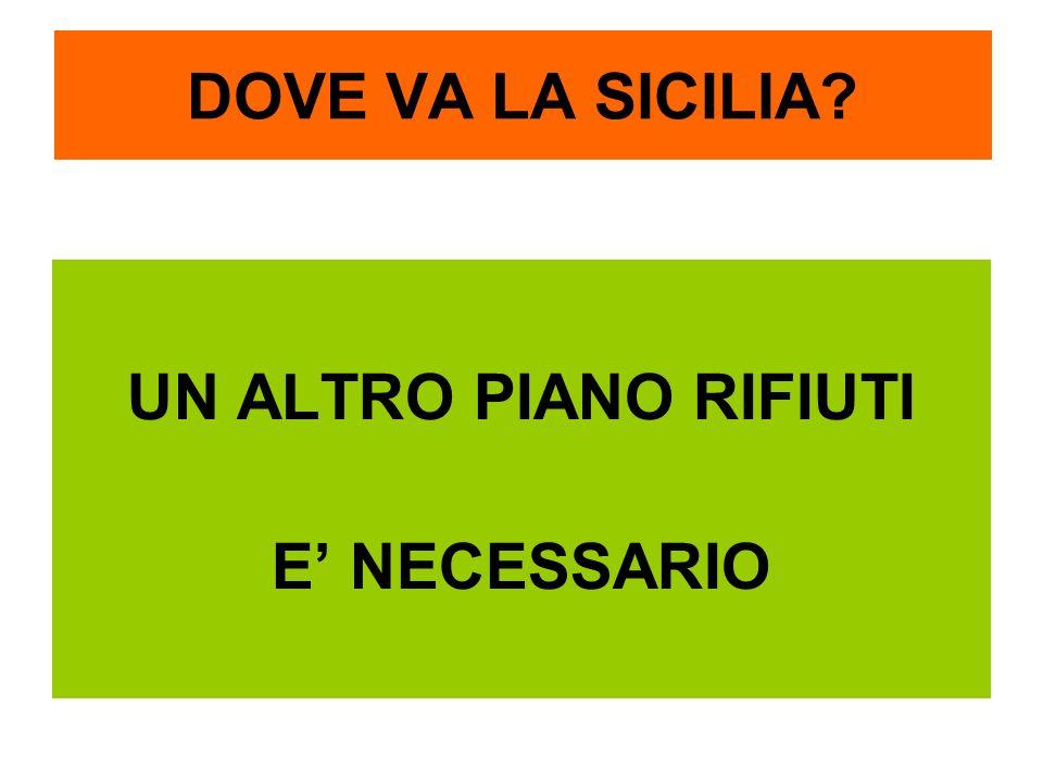 DOVE VA LA SICILIA? UN ALTRO PIANO RIFIUTI E NECESSARIO