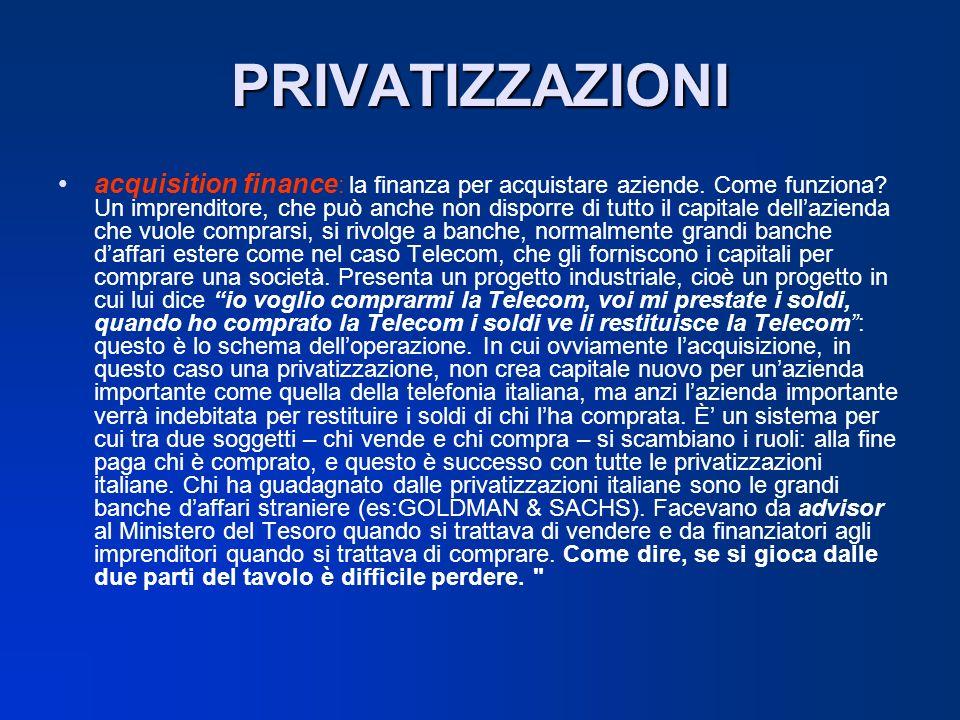 PRIVATIZZAZIONI acquisition finance : la finanza per acquistare aziende. Come funziona? Un imprenditore, che può anche non disporre di tutto il capita