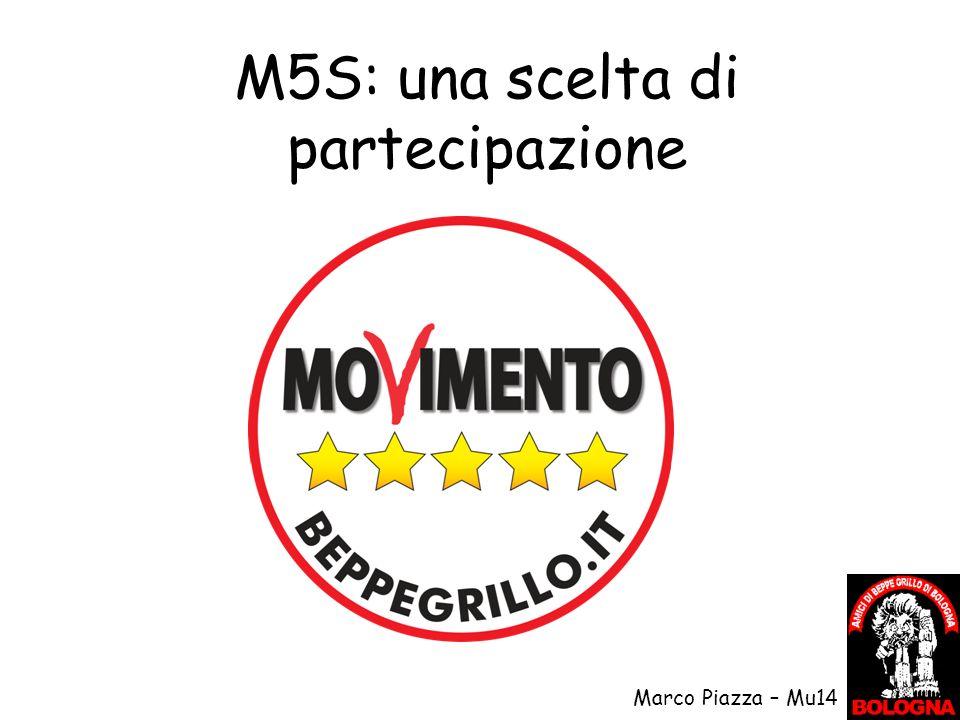 M5S: una scelta di partecipazione Marco Piazza – Mu14