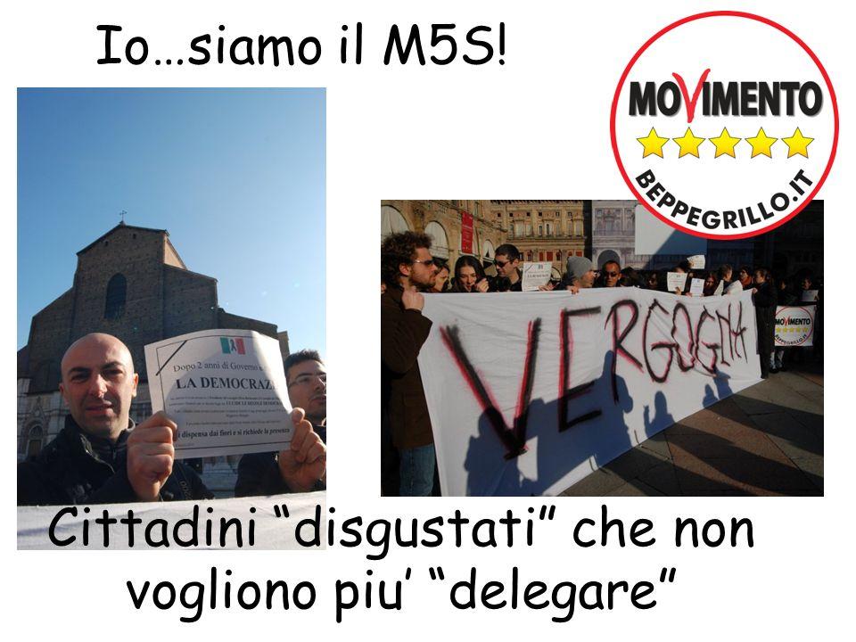 Io…siamo il M5S! Cittadini disgustati che non vogliono piu delegare