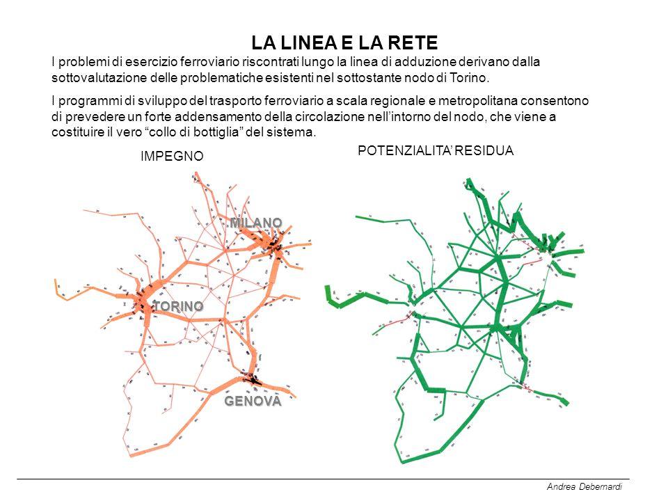 Andrea Debernardi LA LINEA E LA RETE I problemi di esercizio ferroviario riscontrati lungo la linea di adduzione derivano dalla sottovalutazione delle problematiche esistenti nel sottostante nodo di Torino.
