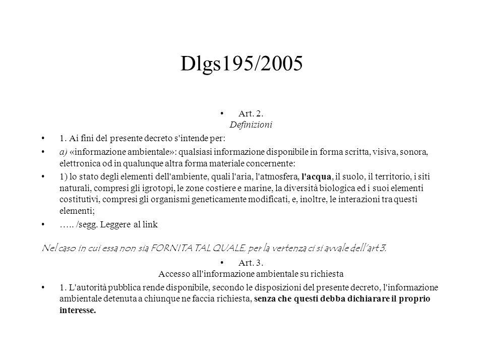 Dlgs195/2005 Art. 2. Definizioni 1.