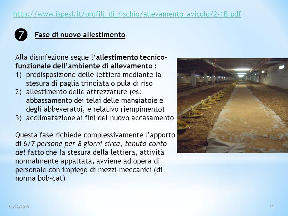 http://www.ispesl.it/profili_di_rischio/allevamento_avicolo/2-1B.pdf Alla disinfezione segue lallestimento tecnico- funzionale dellambiente di allevam