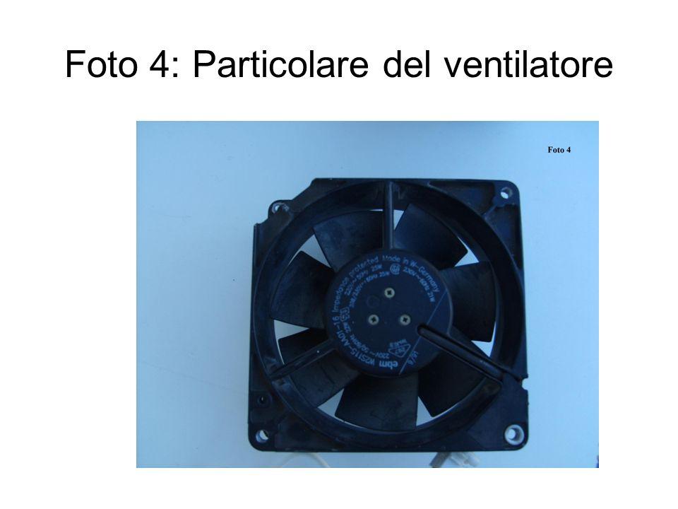 Foto 4: Particolare del ventilatore