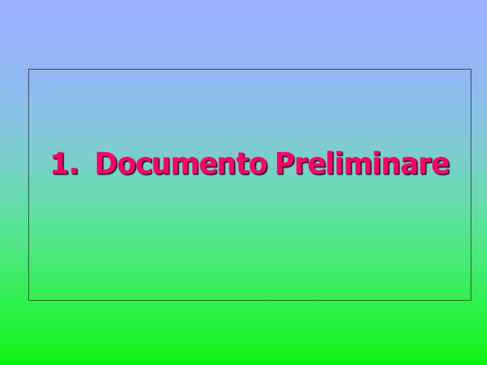 1.Documento Preliminare