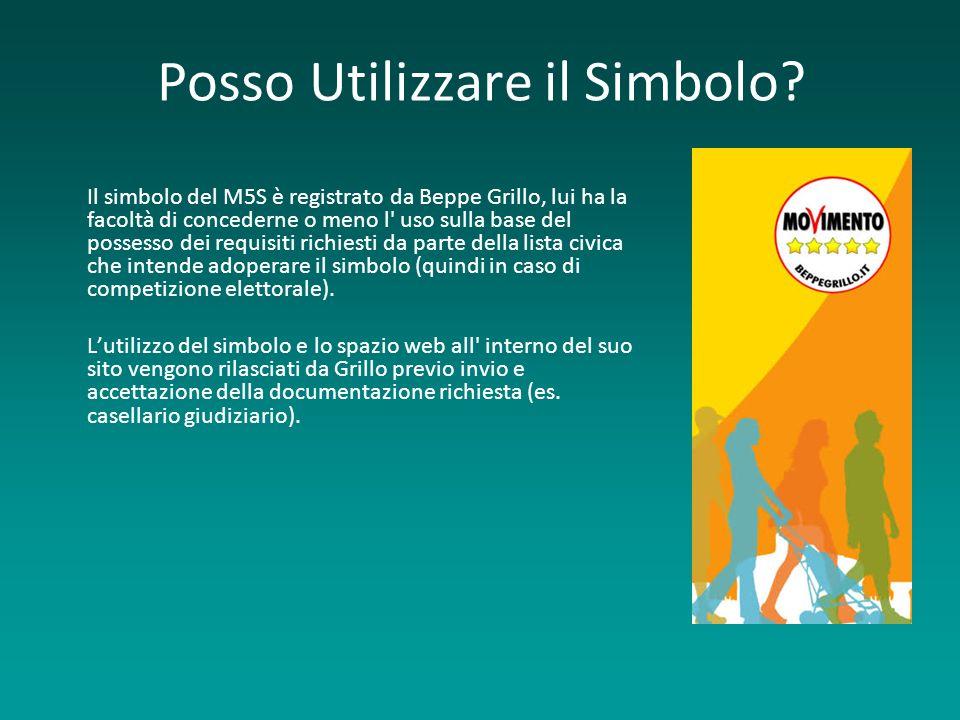 Posso Utilizzare il Simbolo? Il simbolo del M5S è registrato da Beppe Grillo, lui ha la facoltà di concederne o meno l' uso sulla base del possesso de
