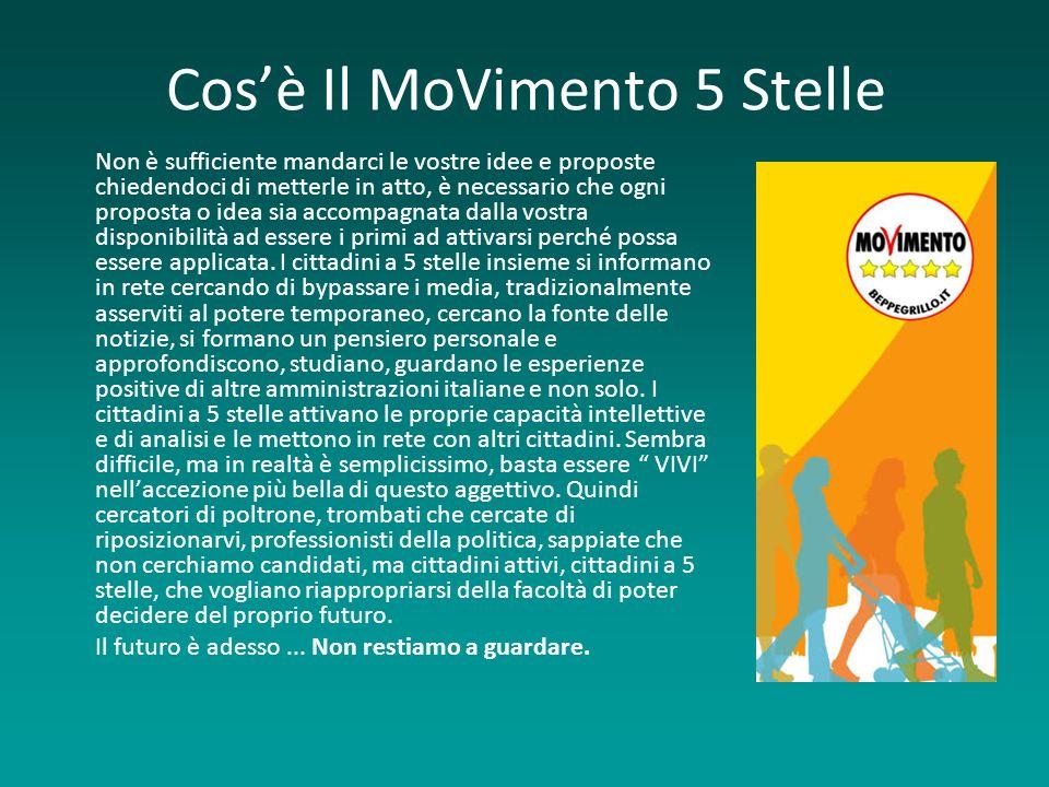 Cosè il MoVimento 5 Stelle Il M5S è un movimento culturale - politico nato ufficialmente il 4 Ottobre 2009, ha la sua origine nei meetup.