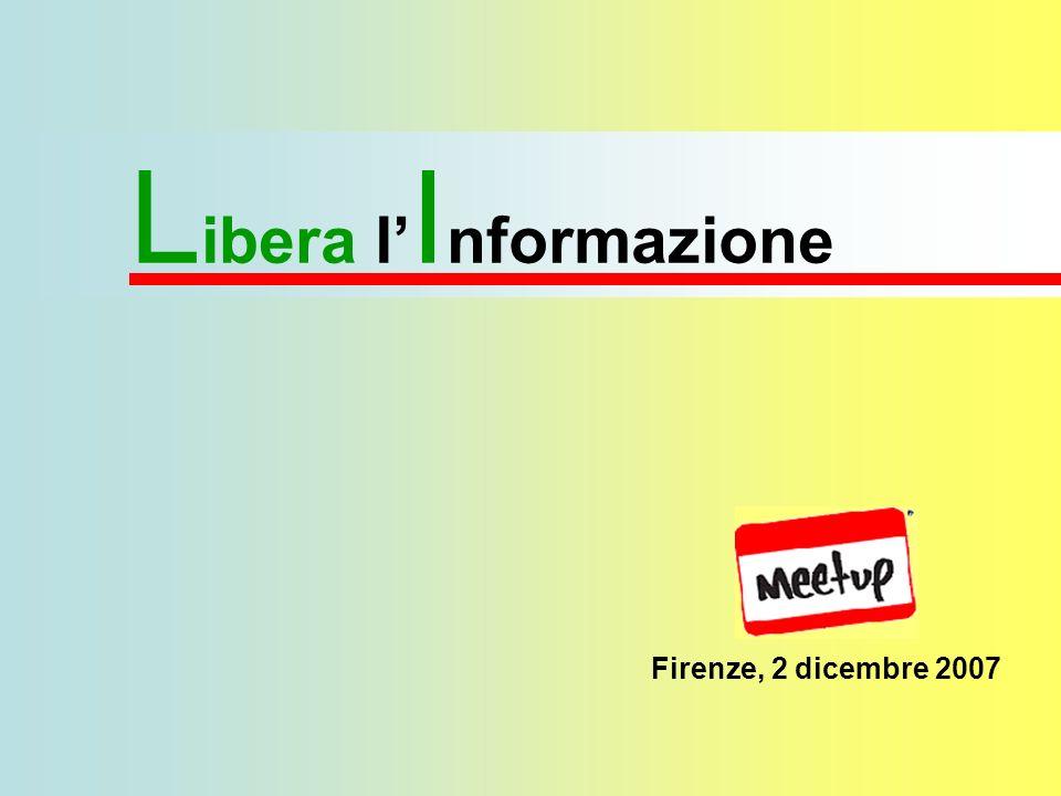 I primi passi della L ibera I nformazione La storia del Grillonews Febbraio 2006: il primo incontro per una libera informazione Marzo 2006: il primo numero del Grillonews cartaceo