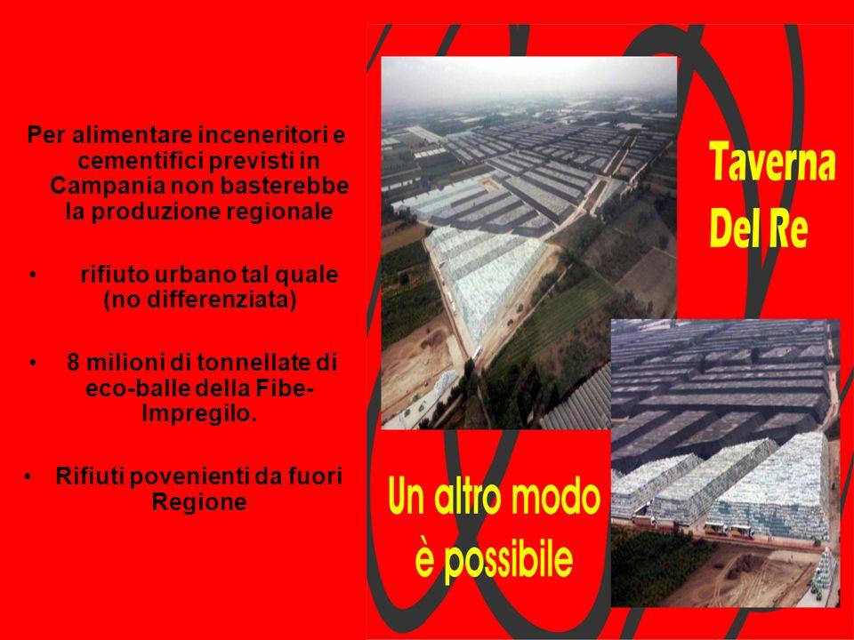 Per alimentare inceneritori e cementifici previsti in Campania non basterebbe la produzione regionale rifiuto urbano tal quale (no differenziata) 8 mi