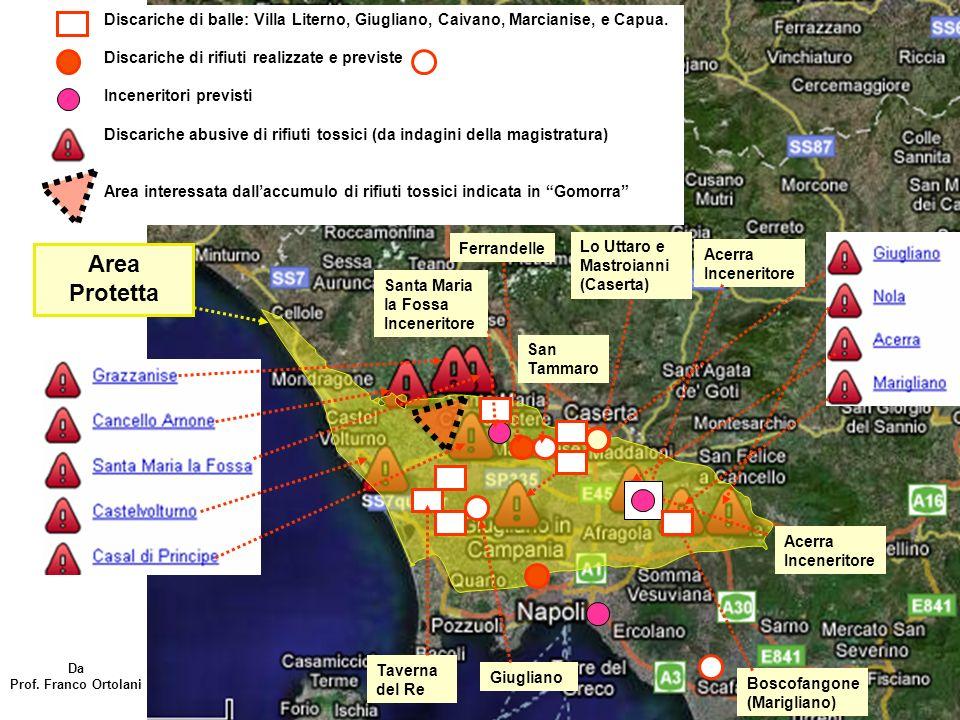 Dai documenti ufficiali Europei ( dati dell inventario della Commissione Europea) rapporto finale del 31.12.2000, III volume, pag 69) risulta che gli impianti di incenerimento in Italia producono 295,5 gr/anno di diossine in tossicità equivalente (TE) di cui 170,6 gr/anno dal solo incenerimento di rifiuti urbani.