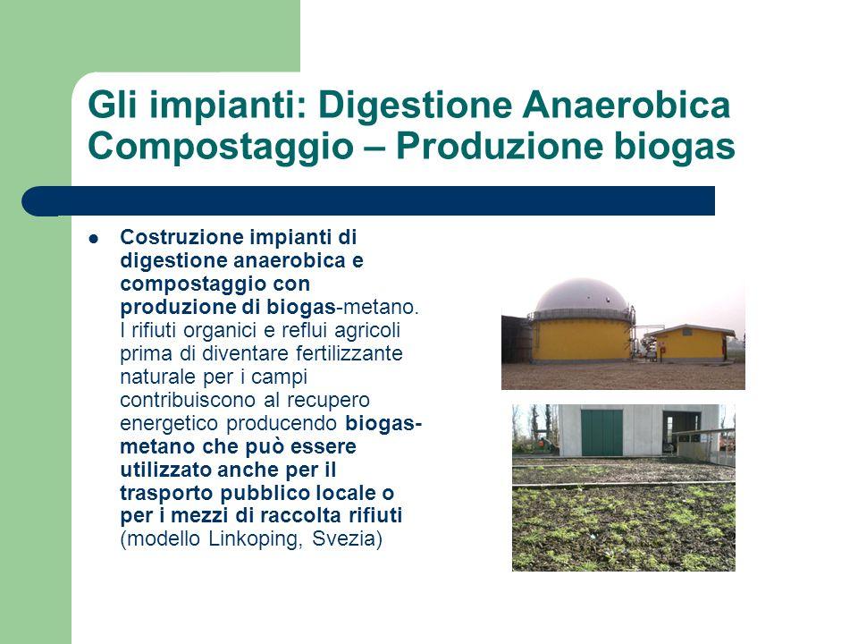 Gli impianti: Digestione Anaerobica Compostaggio – Produzione biogas Costruzione impianti di digestione anaerobica e compostaggio con produzione di bi