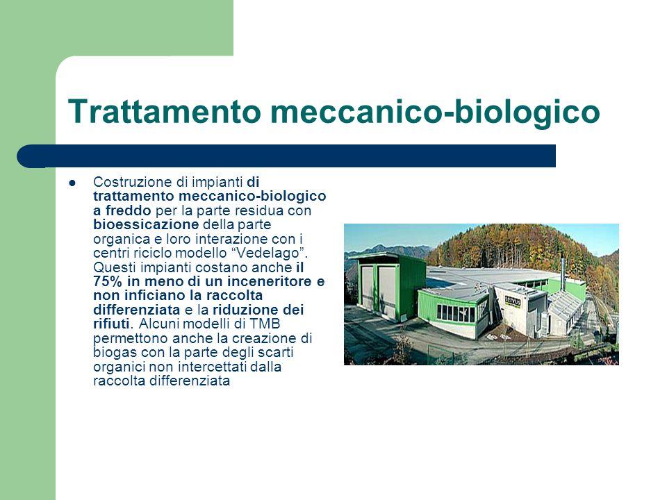 Trattamento meccanico-biologico Costruzione di impianti di trattamento meccanico-biologico a freddo per la parte residua con bioessicazione della part