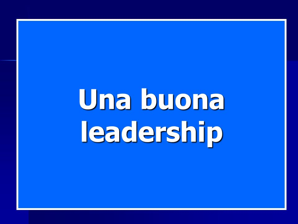 Una buona leadership