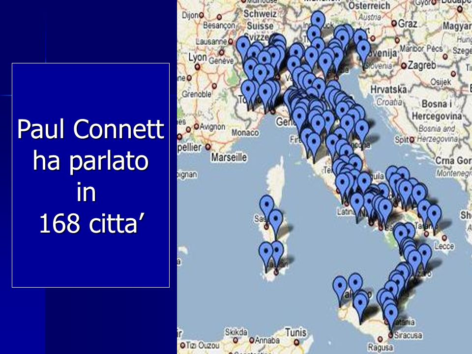 Paul Connett ha parlato in 168 citta