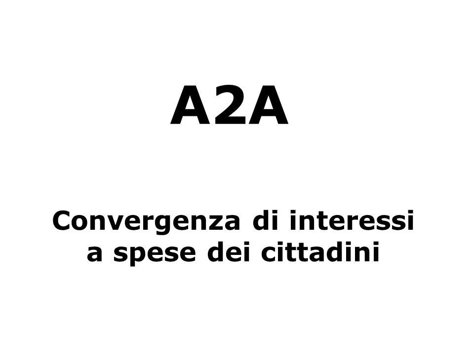 A2A Convergenza di interessi a spese dei cittadini