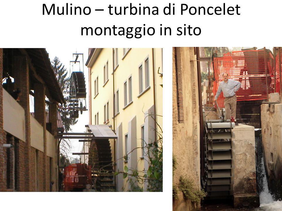 Mulino – turbina di Poncelet montaggio in sito