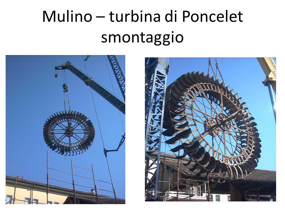 Mulino – turbina di Poncelet trasporto in officina