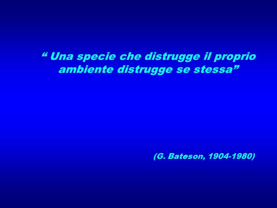 Una specie che distrugge il proprio ambiente distrugge se stessa (G. Bateson, 1904-1980)