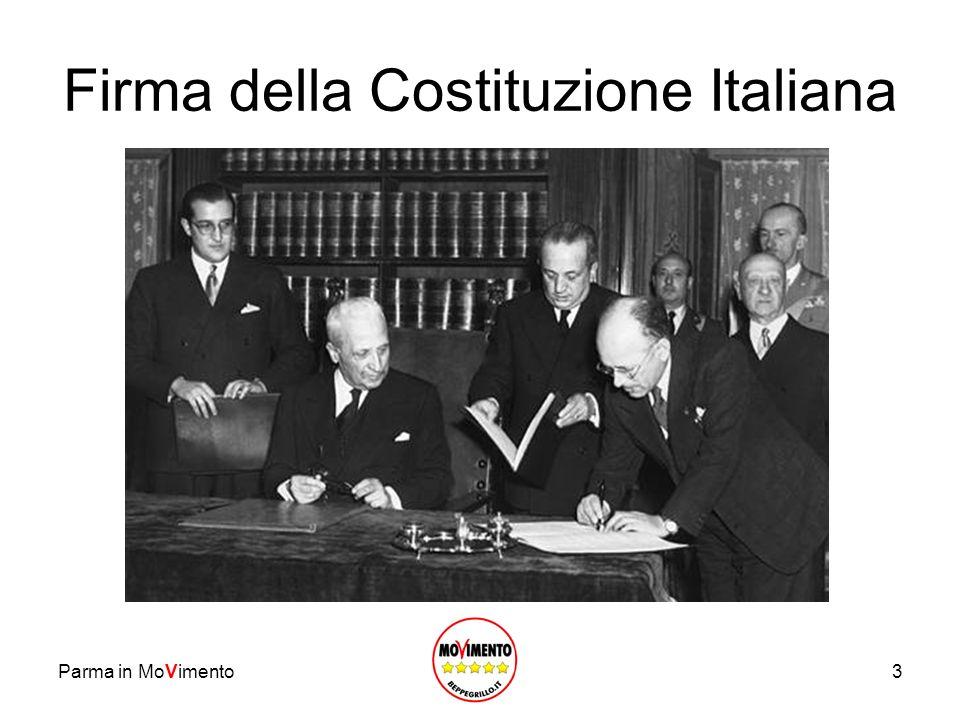 3 Firma della Costituzione Italiana Parma in MoVimento