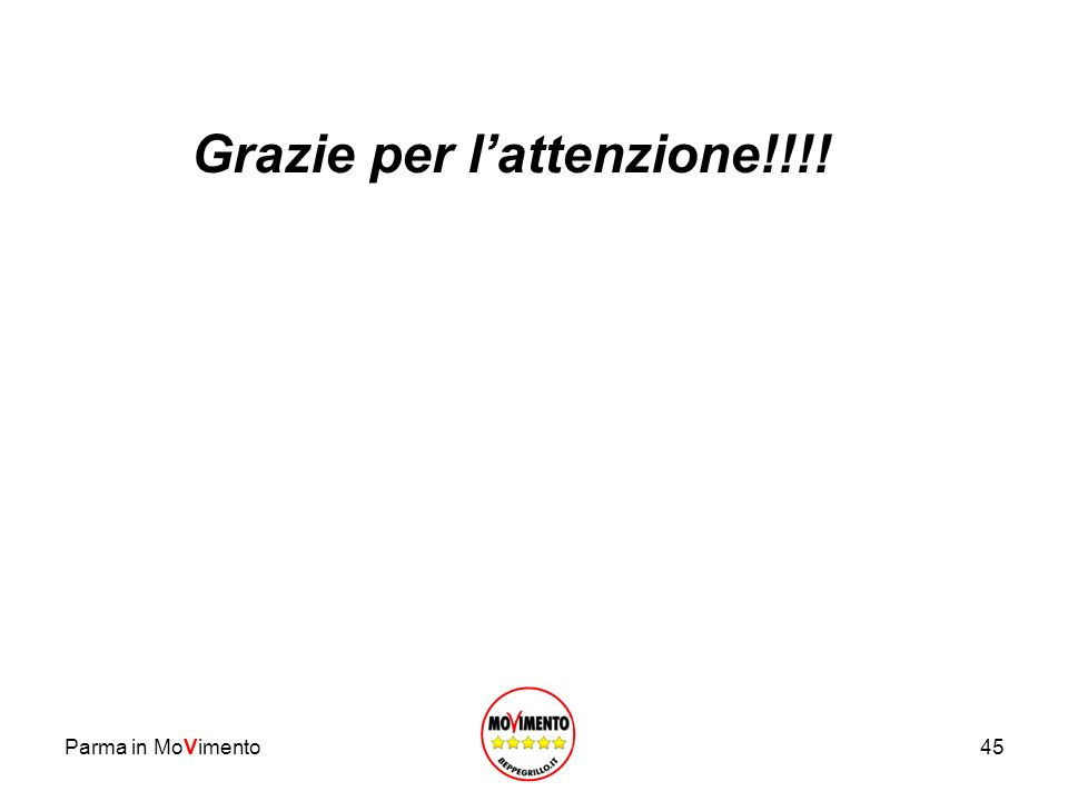 Parma in MoVimento45 Grazie per lattenzione!!!!