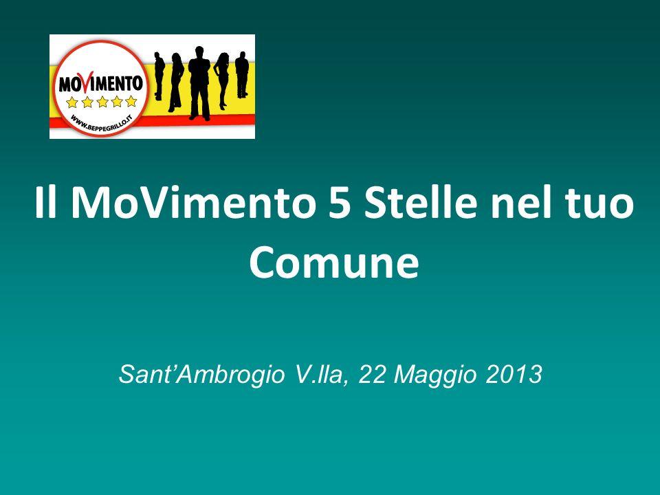 Il MoVimento 5 Stelle nel tuo Comune SantAmbrogio V.lla, 22 Maggio 2013