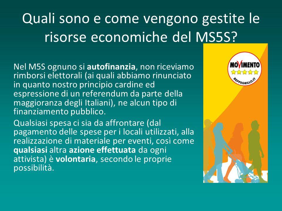 Quali sono e come vengono gestite le risorse economiche del MS5S.