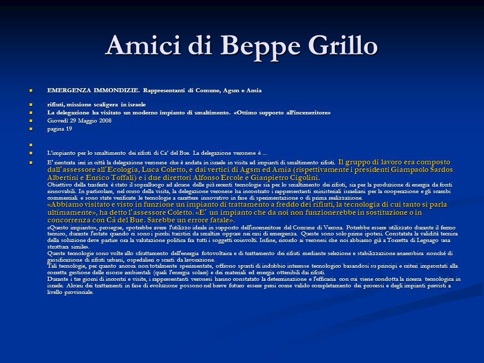 Amici di Beppe Grillo EMERGENZA IMMONDIZIE.