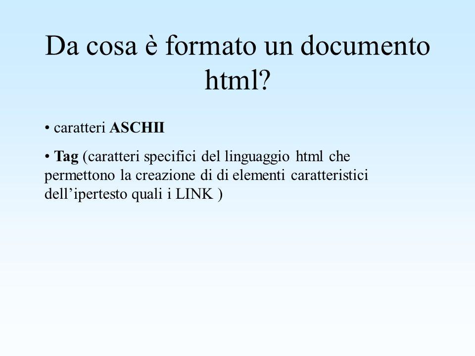 Differenze di estensione dei file In genere, i file in formato ipertestuale, hanno una estensione.html, ma in qualche caso è possibile trovare anche dei.htm.