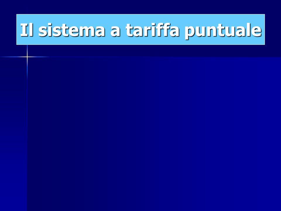 Il sistema a tariffa puntuale