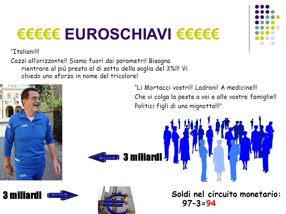 EUROSCHIAVI Italiani!!. Cazzi allorizzonte!. Siamo fuori dai parametri.