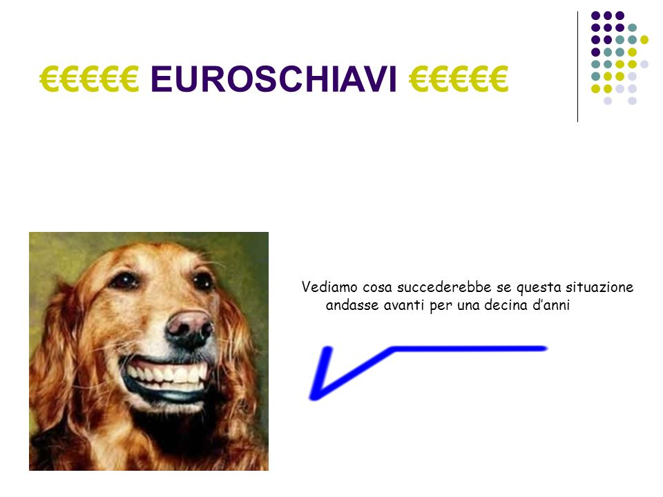 EUROSCHIAVI Totale Soldi Esistenti BCE + PERSONE: 100 miliardi